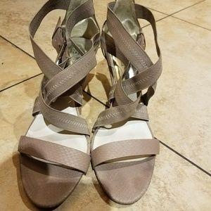 Michael kors beige heels size 12M